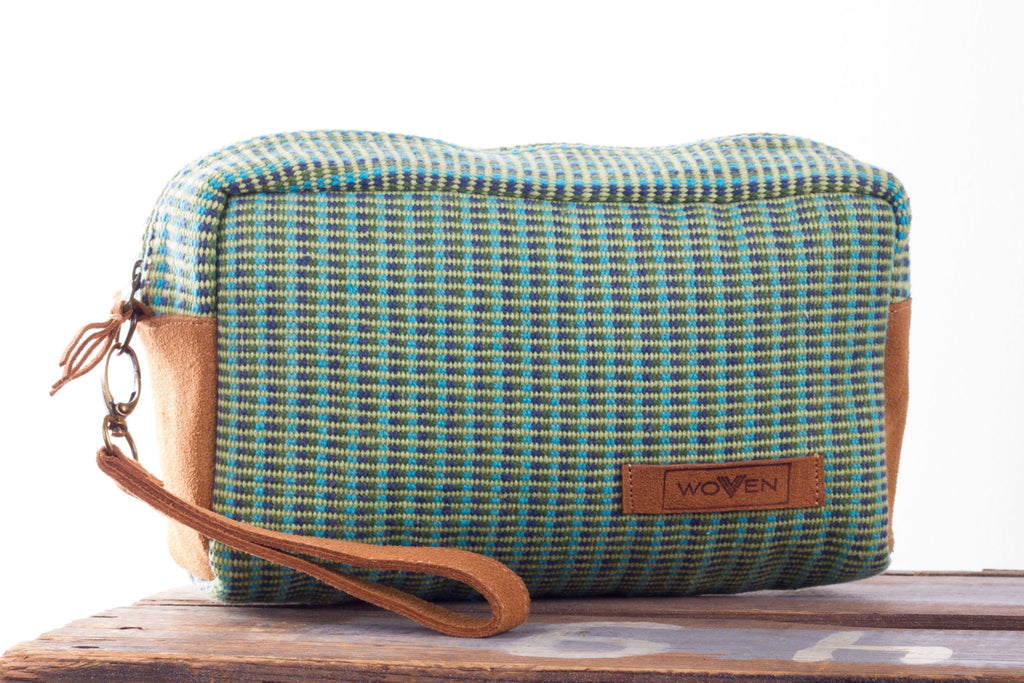 Make-Up Bag - Green Pattern - MuniMuni