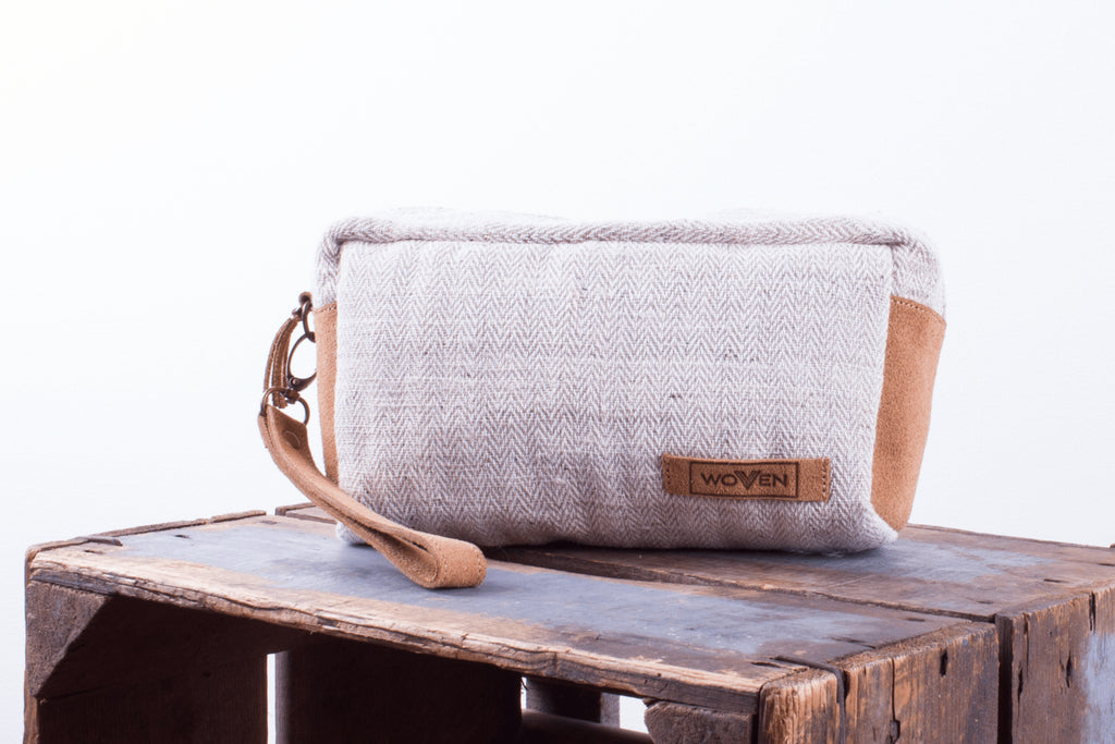 Make-Up Bag - Plain Natural - MuniMuni