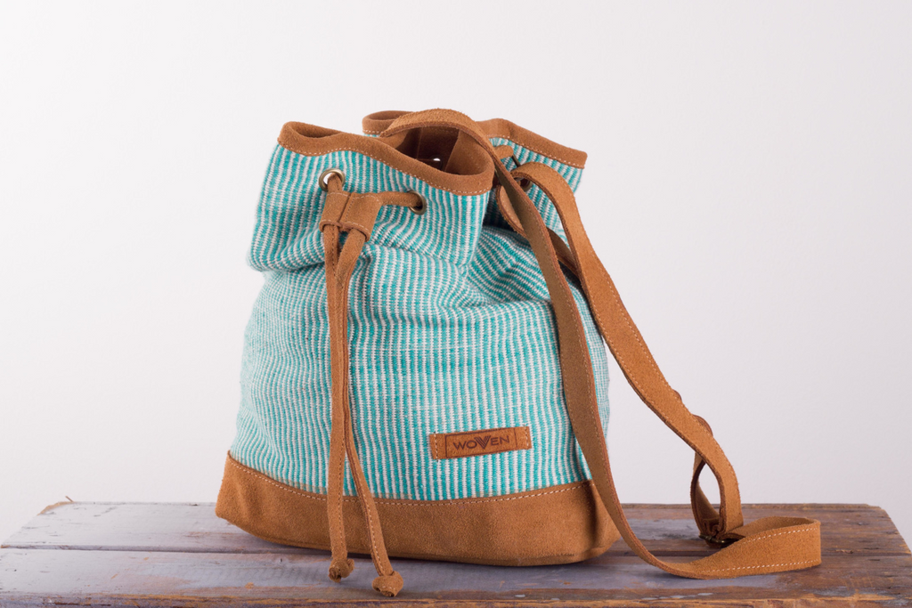 Muzza bag - Turquoise Finer Stripe - MuniMuni