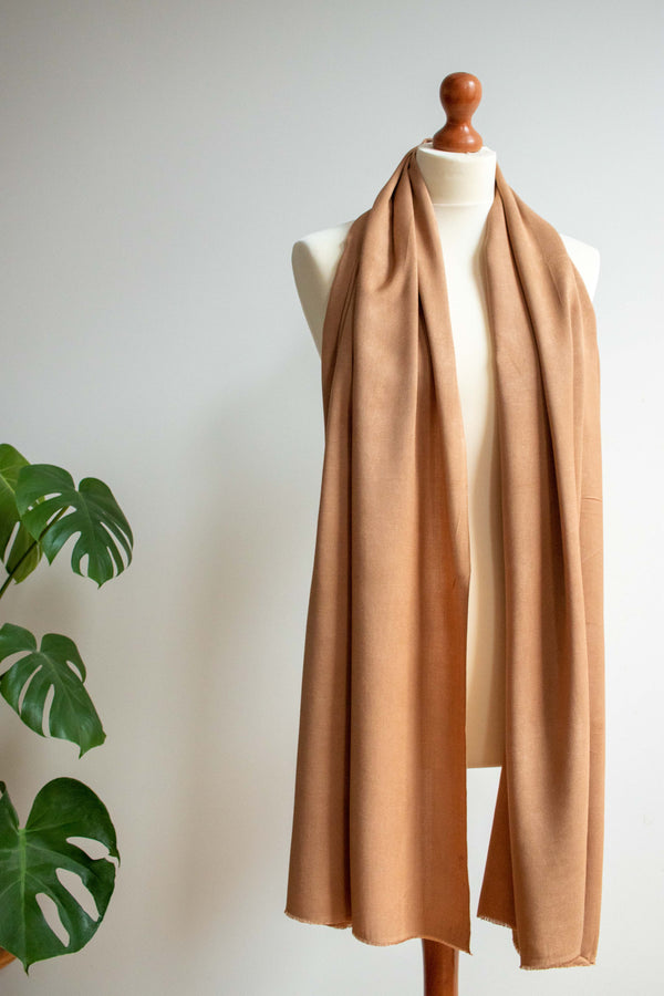Natural Dye Bamboo Scarf - Walnut - MuniMuni