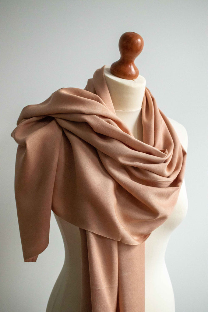 Natural Dye Bamboo Scarf - Madder - MuniMuni