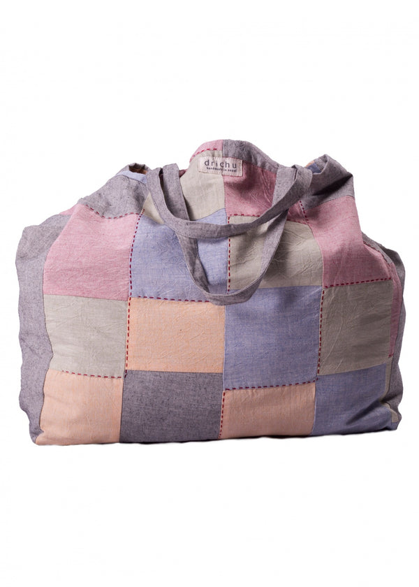 Patch bag - Mix Light Grey Green Red - MuniMuni