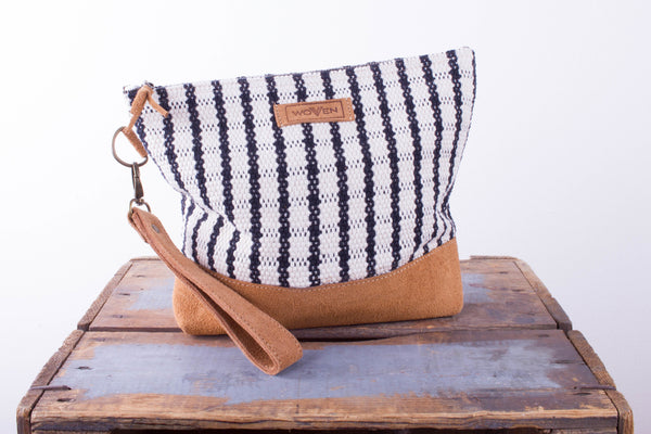 Wash Bag -  Black/ White Check Pattern - MuniMuni