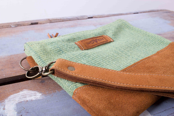 Zip Purse Large - Solid Green - MuniMuni