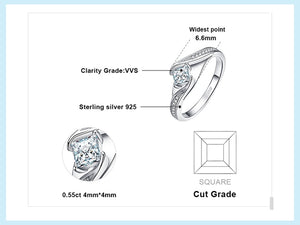 Princess Cut Engagement Ring - BEAUVAN