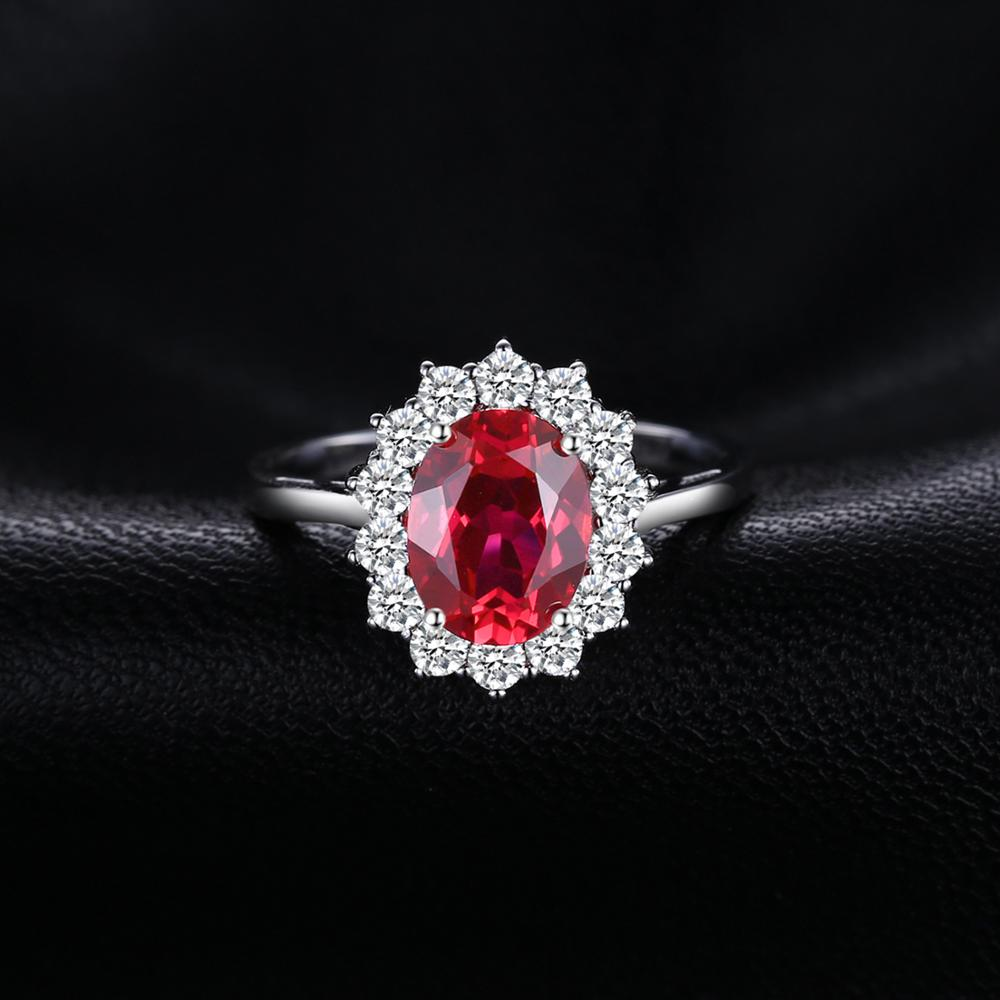 Princess Diana Created Red Ruby Ring - BEAUVAN