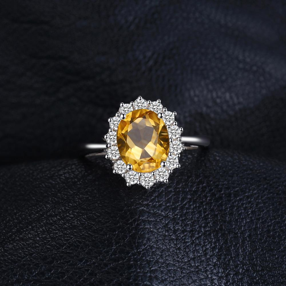 Princess Diana Genuine Citrine Ring Engagement Ring for Women - BEAUVAN