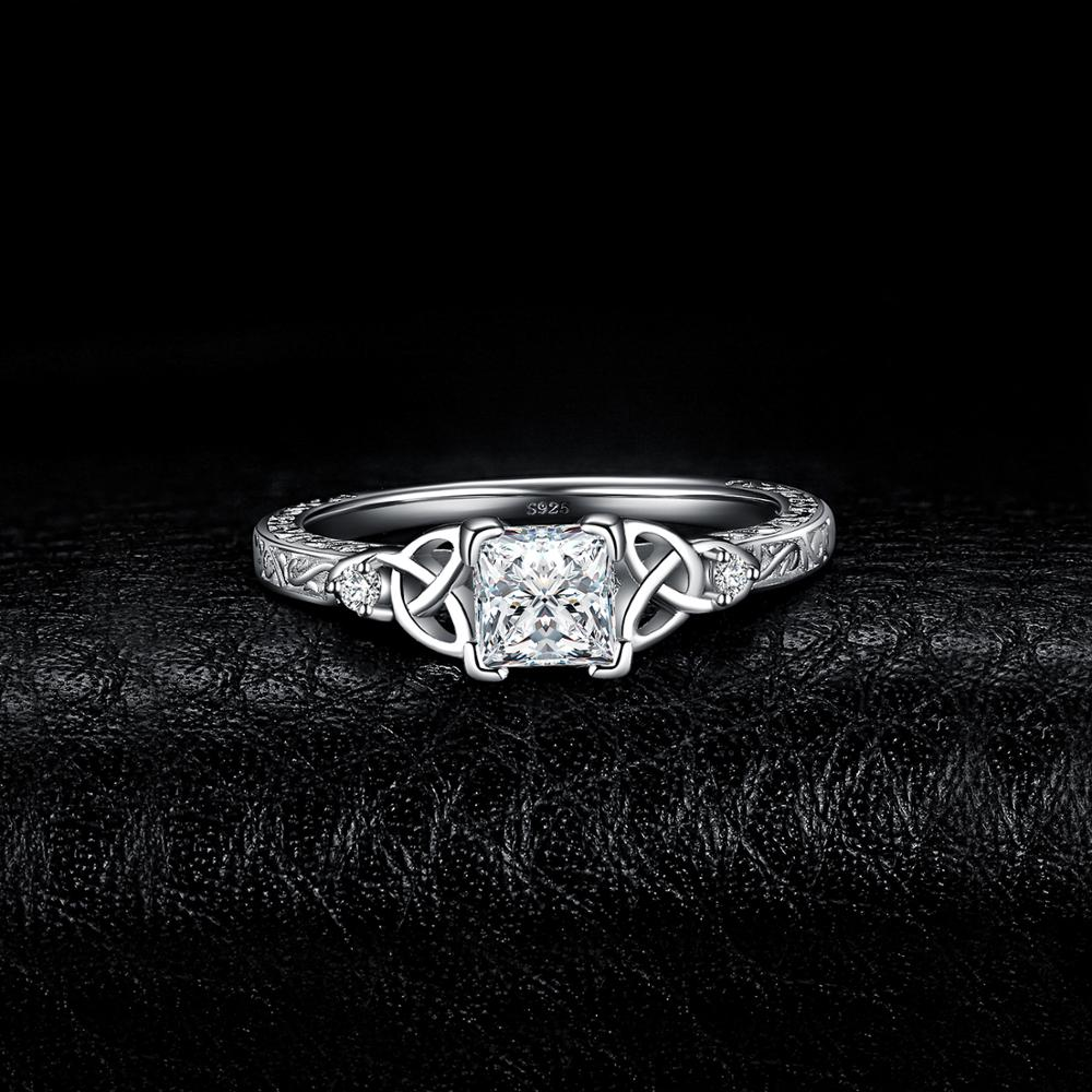 Celtic Knot Princess Engagement Wedding Ring - BEAUVAN