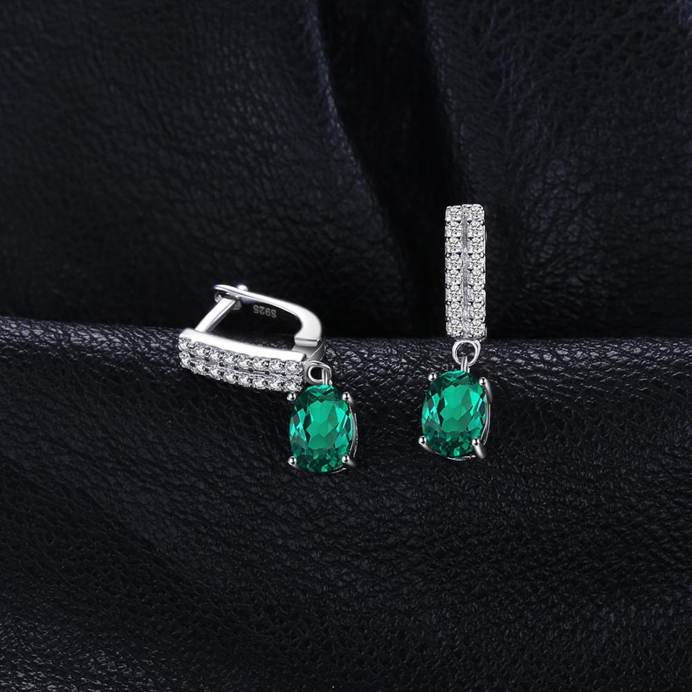Created Nano Emerald Drop Earrings 925 Sterling Silver Earrings For Women Gemstones Korean Earings Fashion Jewelry 2020 - BEAUVAN