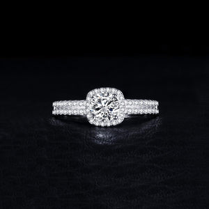 Halo Anniversary Engagement Wedding Ring - BEAUVAN