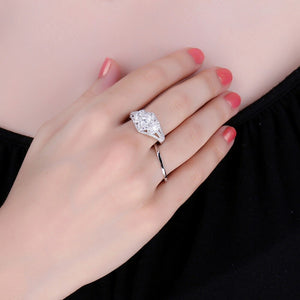 Marquise Cut Engagement Ring for Women Anniversary Wedding Rings - BEAUVAN