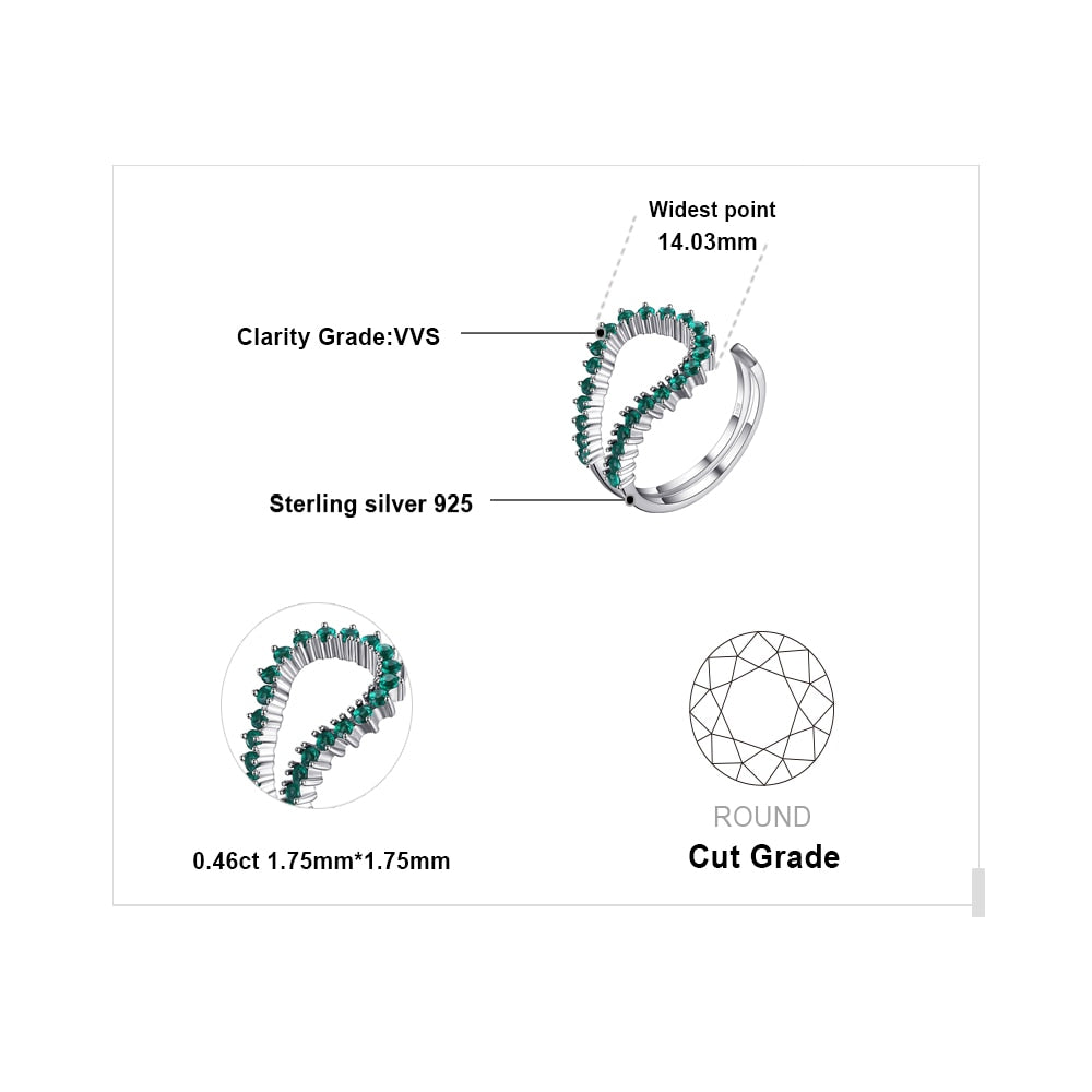 Simulated Nano Emerald Ring Stackable Rings Band  Rings for Women - BEAUVAN
