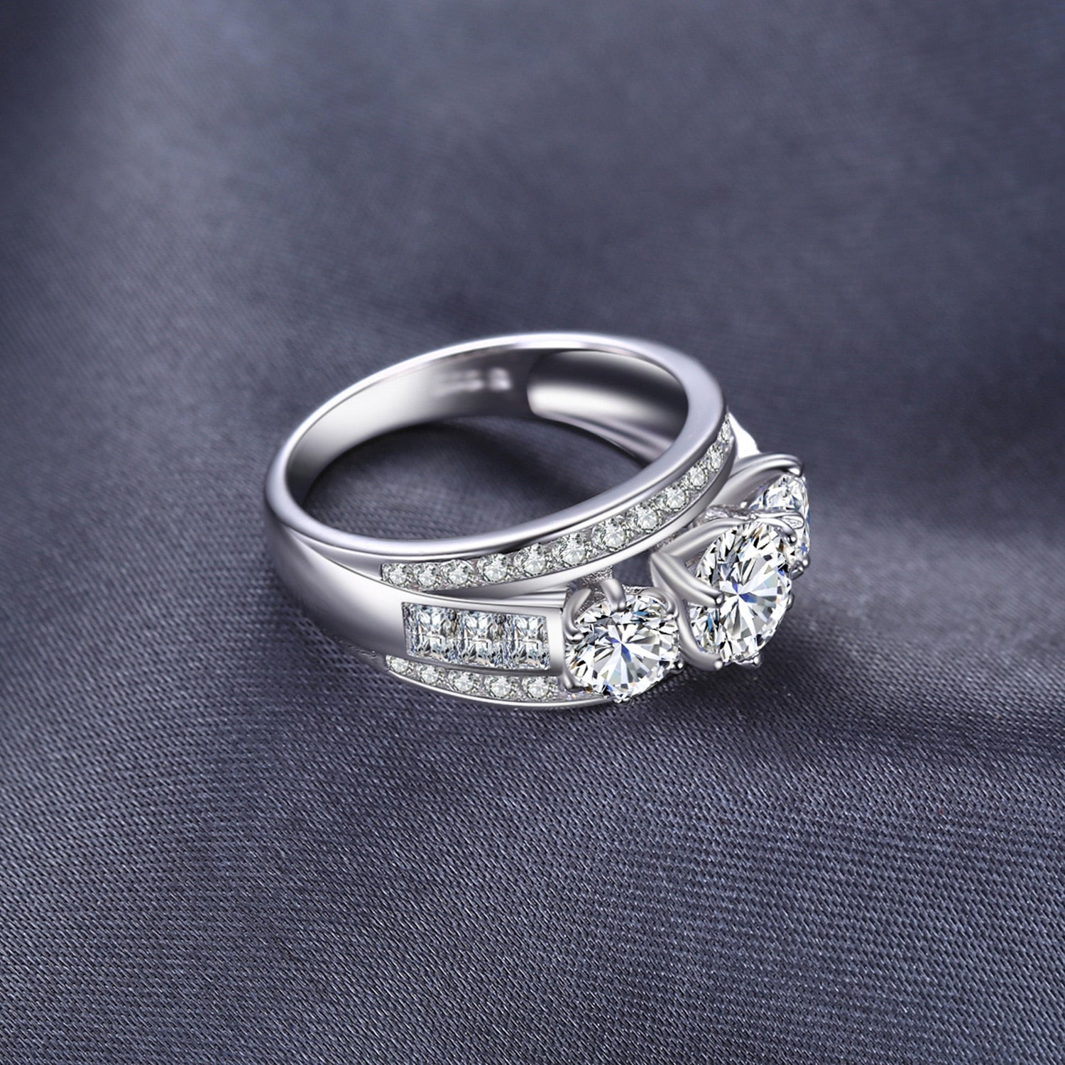 Engagement Ring Anniversary Wedding Rings for Women - BEAUVAN
