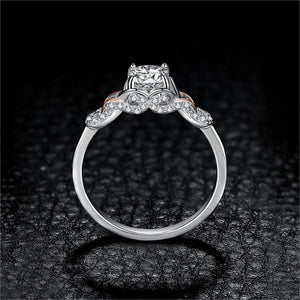 Infinity Celtic Knot Engagement Ring Rose Gold Rings Wedding Rings - BEAUVAN