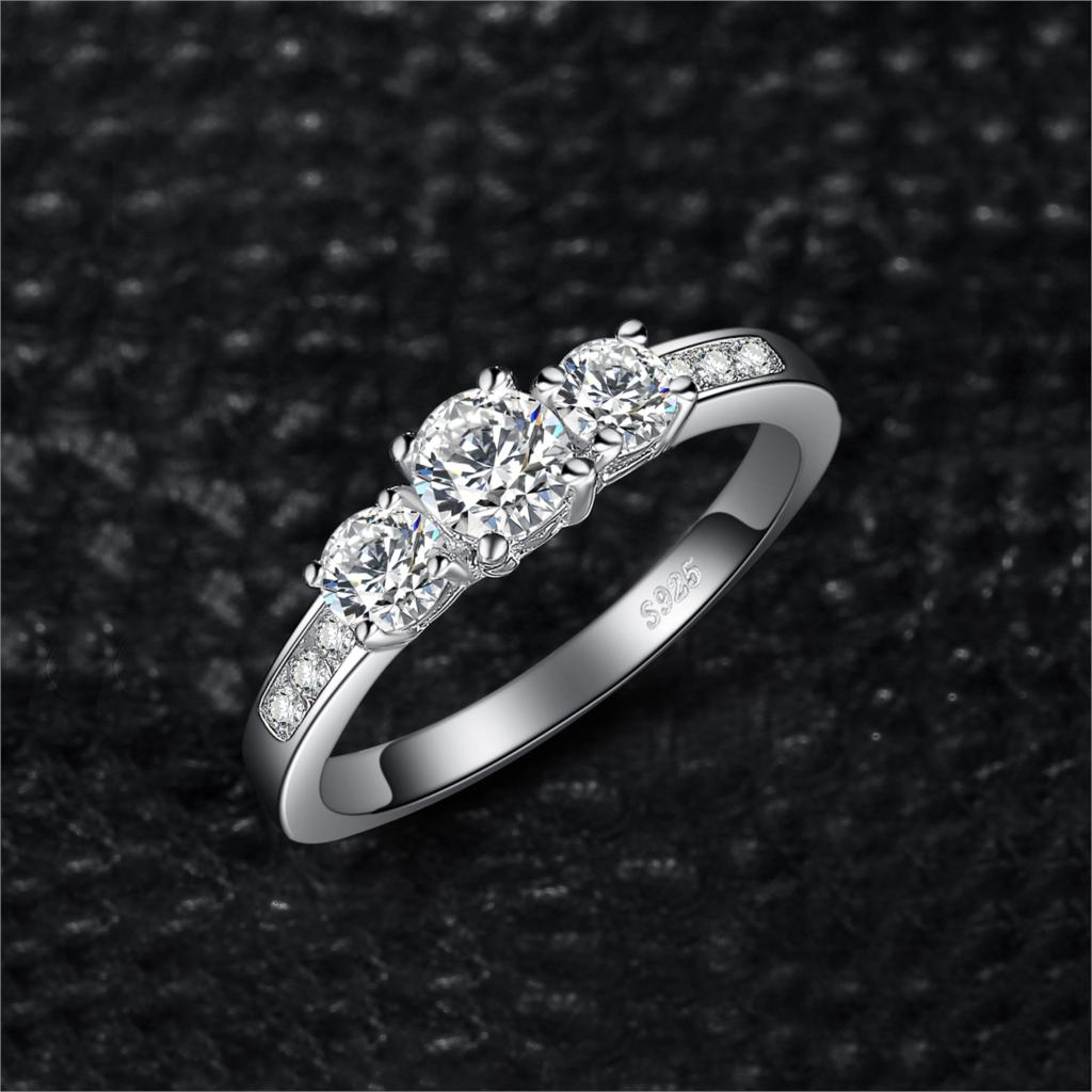 Engagement Ring 925 Sterling Silver Rings for Women Anniversary Ring - BEAUVAN
