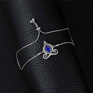 Carriage Created Sapphire Bolo Bracelet Gemstones Bracelets For Women - BEAUVAN