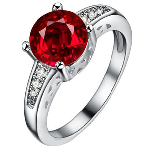 Cellacity High Grade Classic Choice Sapphire Ring for Women Ruby Wedding Engagement - BEAUVAN