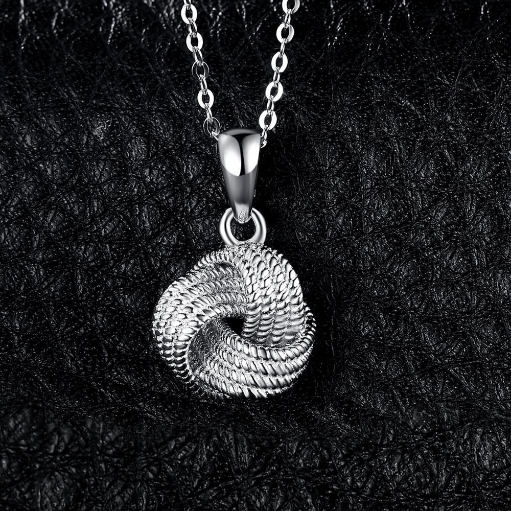 Vintage Milgrain Love Knot Pendant Necklace Without Chain 925 Sterling Silver Pendant Fashion Jewelry Making - BEAUVAN