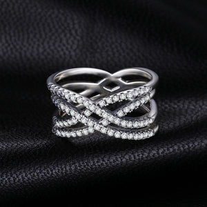Beatiuful Intertwined Statement Ring - BEAUVAN