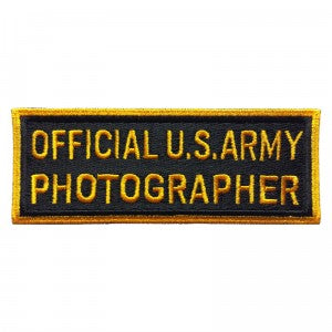 Patch / Ecusson Official U.S. Army Photographer