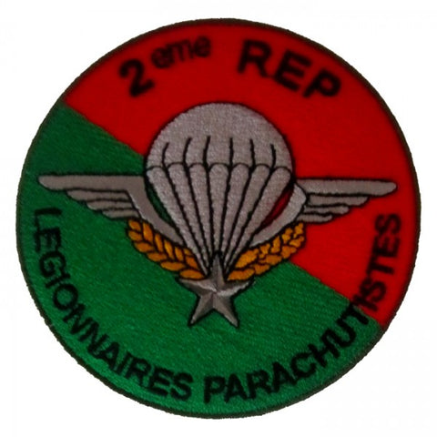Patch / Ecusson 2ème REP (Régiment Etranger Parachutistes) Type 2