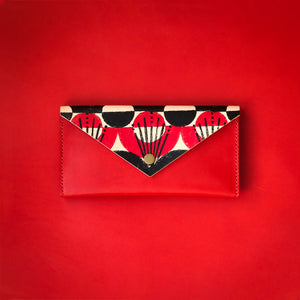 Flatlander Envelope Clutch (featuring Beenanza Design original block print)