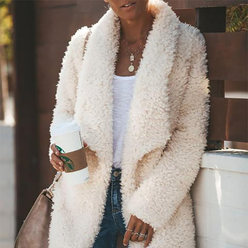 Long Sleeve Half Open Collar Cardigan Fashion Coat