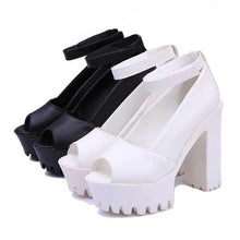 Pure Color High Heel Platform Shoes
