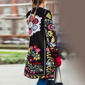 Retro Ethnic Fashion Slim Embroidery Long Sleeve Cardigan