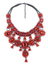 Metal Plated Gem Inlay Bohemian Necklace