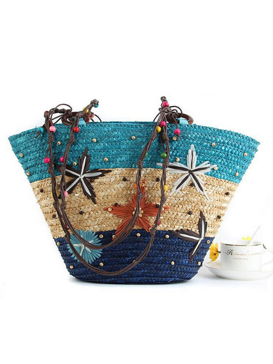 Straw  Large Capacity Beach Bag Ocean  Bag