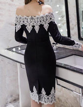 Off Shoulder Decorative Lace Plus Size 5XL Bodycon Dress
