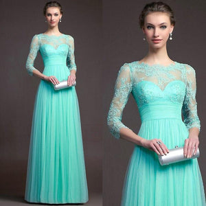 Lace Hollow Stitching Evening Dress