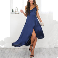V-Neck Sexy Slim Split Evening Dress