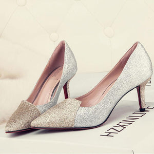 Crystal Sequins Wedding Bridesmaids Shoes