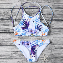 Halter Straps Floral Printed Sexy Swimwear