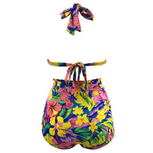 Sexy Floral Printed High Waist Swimwear