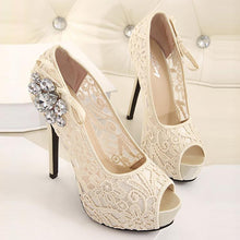 Sexy Rhinestone Pure Color Slim High Shoes