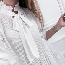 Elegant Pure Color Round Collar Long-Sleeved Shirt