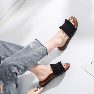 Fashion Pure Color Flat Shoes