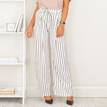 Casual Classic Stripes Long Pants With Belt
