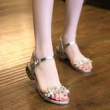 Fashion Pure Color Low-Heeled Sandal