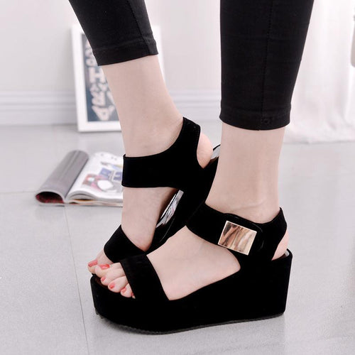 Fashion High Heel Thick Bottom Sandals