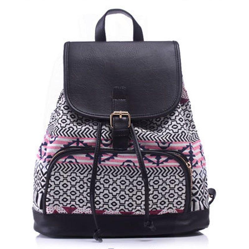 Bohemia Jacquard Weave Canvas Backpack