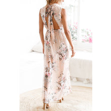 Sexy High Waist Printing Halter Split Vacation Dress