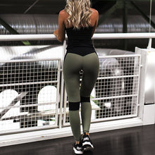Personality Stitching Fitness Tight Hip Thin Yoga Pants