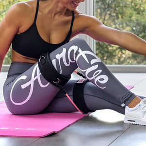 Casual Letter Printing Slim Yoga Leggings