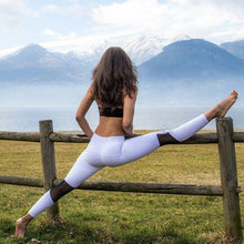 Mesh Stitching Leggings Colorblocked Sport Breathable Yoga Slim Pants