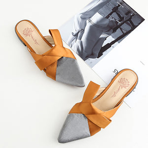 Fashion Suede Pointed Mueller Shoes