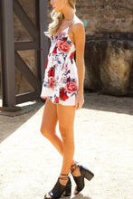 Sexy Floral Print Vacation Romper Mini Dress